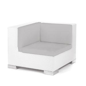 Savoy Corner White - grey cushion