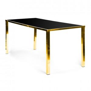 Metropolitan Table Communal GOLD - black plexi