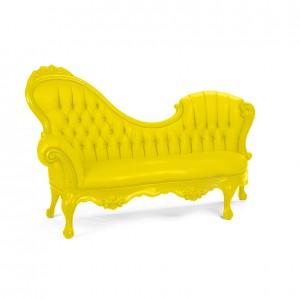 Victoria Chaise lemon yellow