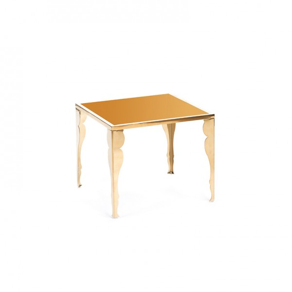 astaire table gold plexi