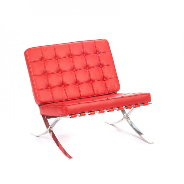barcelona chair red