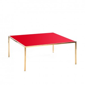 carlton table gold red plexi