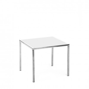 mercer table SS white plexi