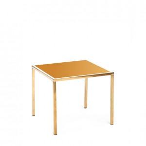 mercer table gold gold plexi