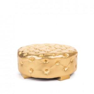 Bernhardt Round Ottoman gold
