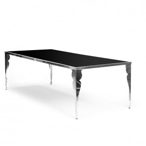 bogart table black plexi