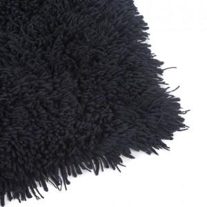 carlyle shag rug black
