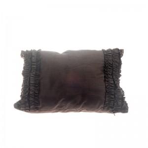 Frill Pillow - Brown Rectangular