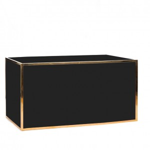 avenue 6' bar gold black plexi