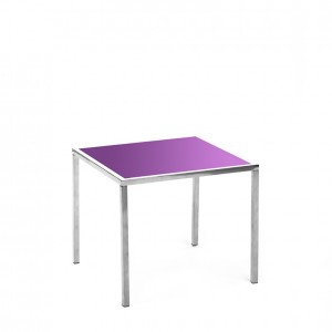 mercer table SS purple plexi