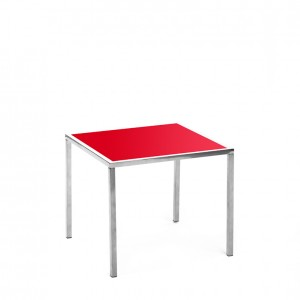 mercer table SS red plexi