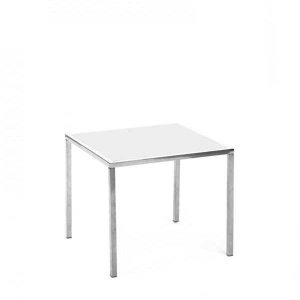 mercer table SS white plexi