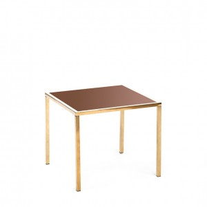 mercer table gold bronze plexi