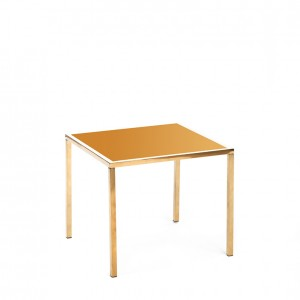 mercer table gold gold plexi