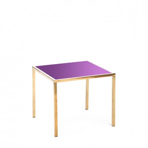 mercer table gold purple plexi
