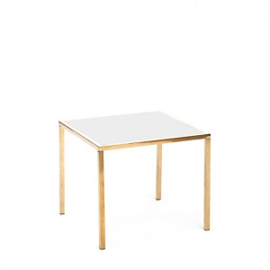 mercer table gold white plexi