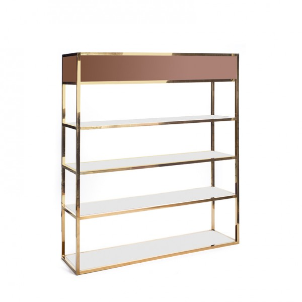 Essex Bar Back GOLD - brown plexi