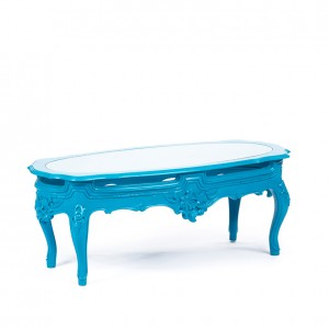 Henry Coffee Table cyan blue