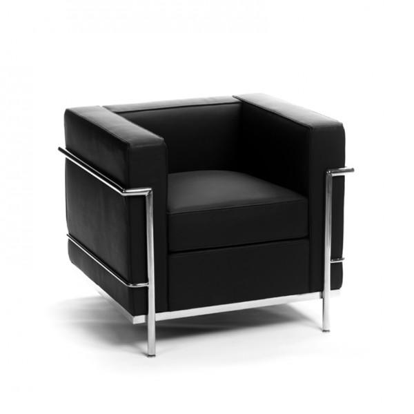 Lc2 fauteuil corbusier black