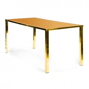 Metropolitan Table Communal GOLD - gold plexi