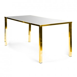 Metropolitan Table Communal GOLD - silver plexi