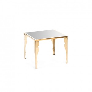 astaire table gold silver plexi