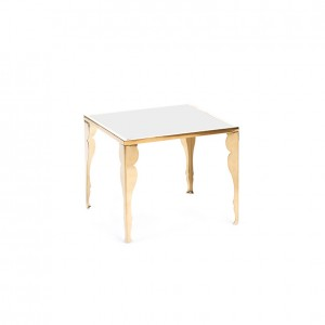 astaire table gold white plexi