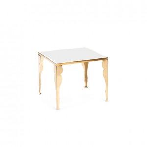 astaire table gold white plexi