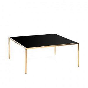 carlton table gold black plexi