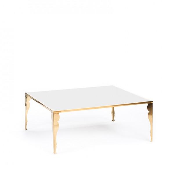 carlton table gold w_ astaire legs white plexi