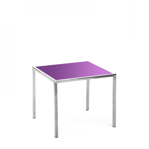 mercer table SS purple plexi