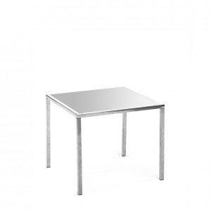 mercer table SS silver plexi