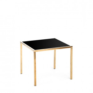 mercer table gold black plexi