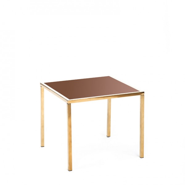 mercer table gold bronze plexi