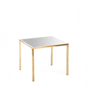 mercer table gold silver plexi