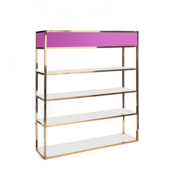 Essex Bar Back GOLD - pink plexi