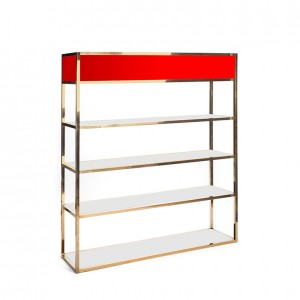 Essex Bar Back GOLD - red plexi
