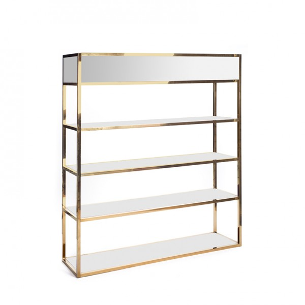 Essex Bar Back GOLD - silver plexi