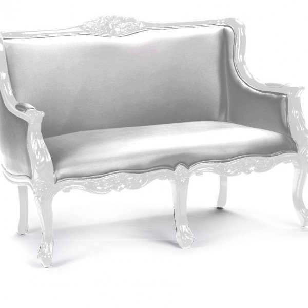 Heritage_Loveseat_White_Silver