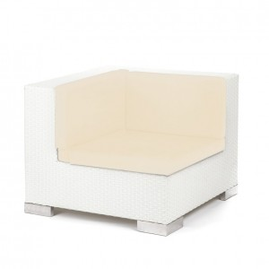 Savoy Corner White - cream cushion