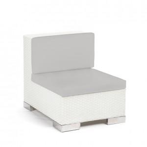 Savoy Middle White - grey cushion