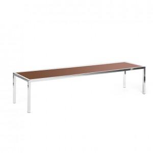 bentley coffee table brown plexi
