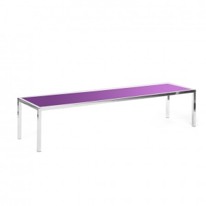 bentley coffee table purple plexi