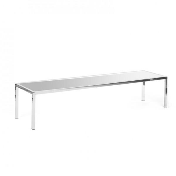 bentley coffee table silver plexi