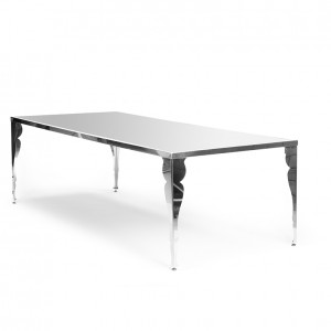 bogart table silver plexi