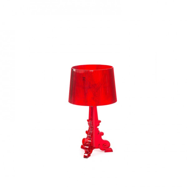 bourgie table lamp red