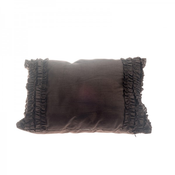 Frill Pillow - Brown Rectangular