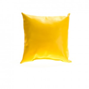 Pillow - Leather - Jaune