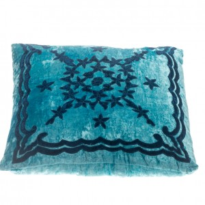 Pillow - Velvet Pattern - Blue Square