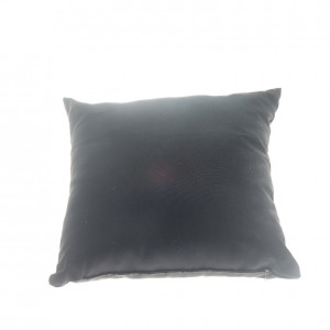 Plaza Throw Pillow - Black Cotton
